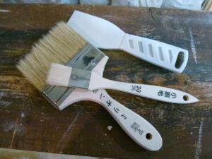 DIY 漆喰を刷毛(はけ)で塗ってみた ①