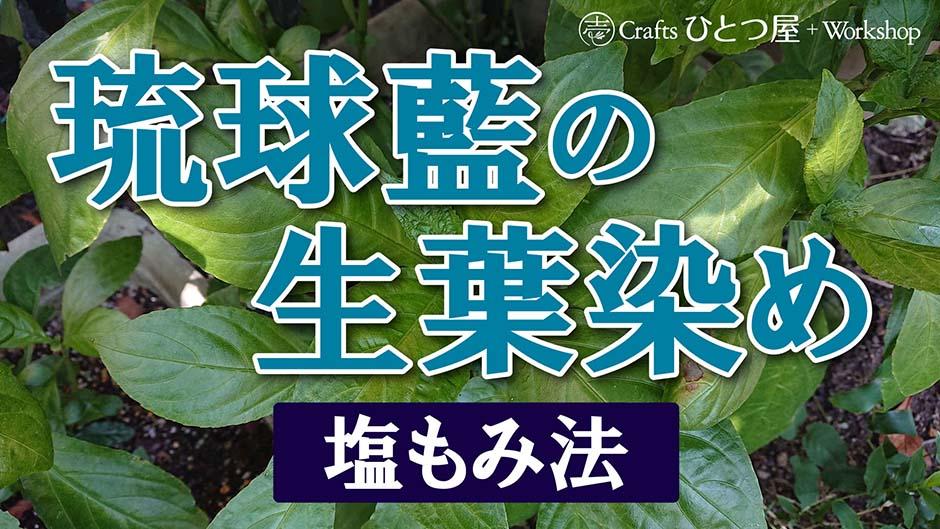 【草木染】琉球藍の生葉染め(絹編)