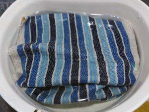 藍染め&手織りのバッグ