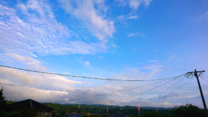 雨上がりの空
